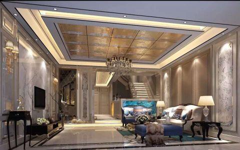 九台别墅380平欧式新古典豪华装修效果图