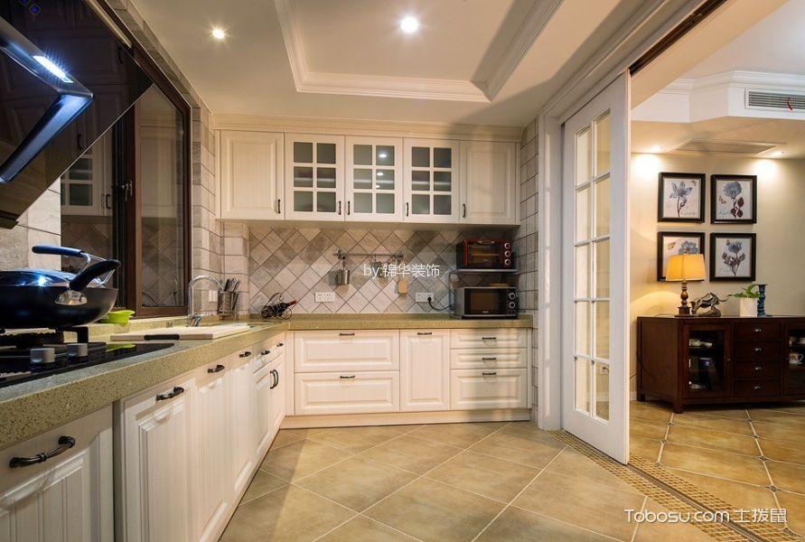厨房白色隔断美式风格装修效果图