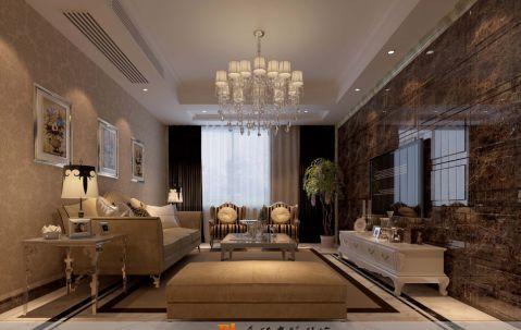 简欧风格四居室设计案例图