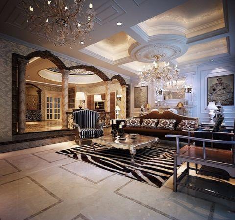 欧式别墅奢华混搭风格装修设计图片