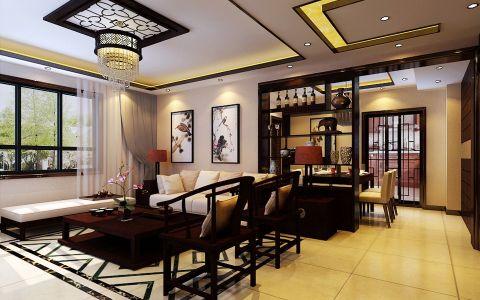 中式风格三居室装修图
