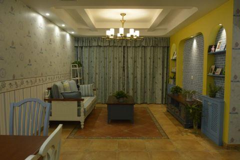 蔚蓝观邸142平米美式乡村风格装修设计