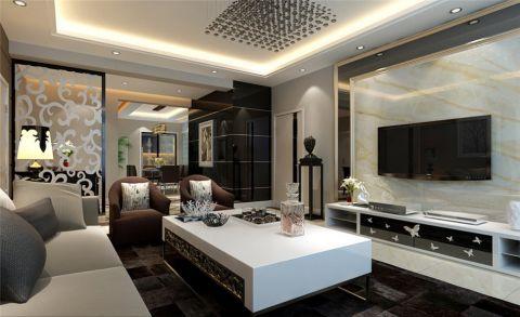 名士豪庭现代简约风三居室装修图