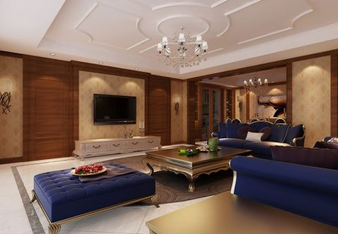 2019现代欧式150平米效果图 2019现代欧式套房设计图片