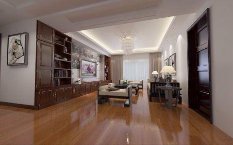 晶龙湾中式风格三居室装修设计