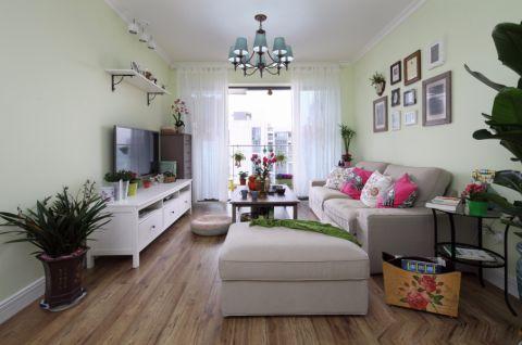 现代田园风格三居室装修效果图