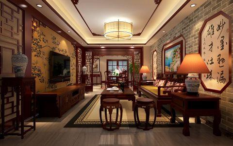 盛世家园·中式雅致四居室装修设计