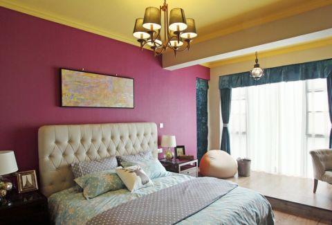 汇成名郡111平美式风格三居室装修案例效果图