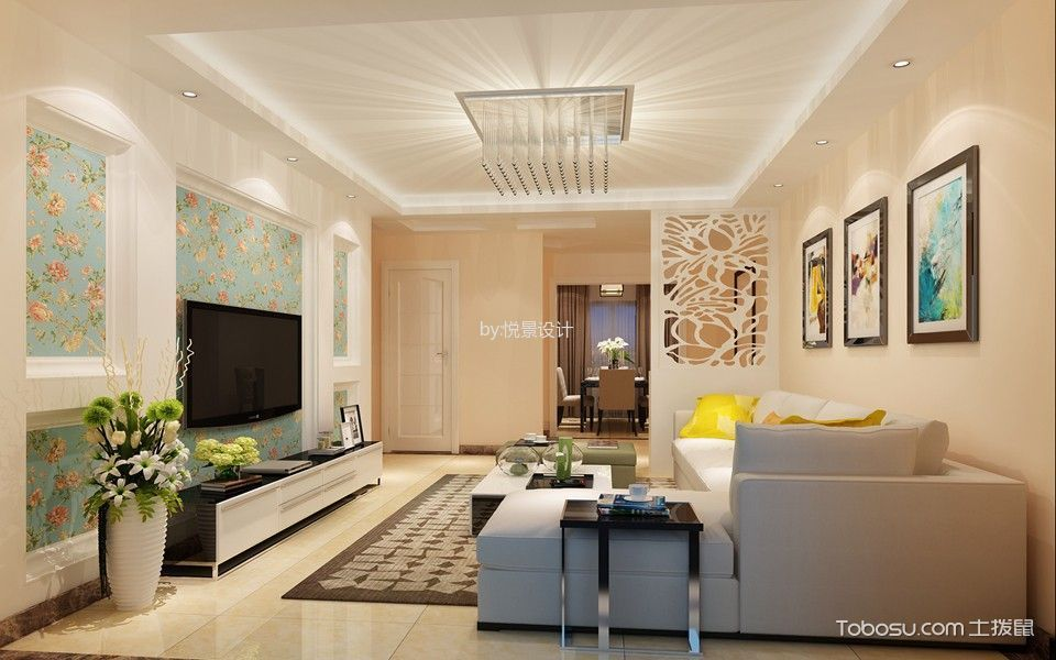 现代简约风格三居室装修设计