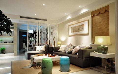 2019中式90平米效果图 2019中式三居室装修设计图片