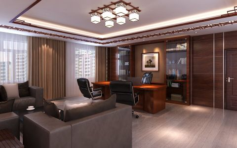 石材城6000平米办公室工装装修效果图