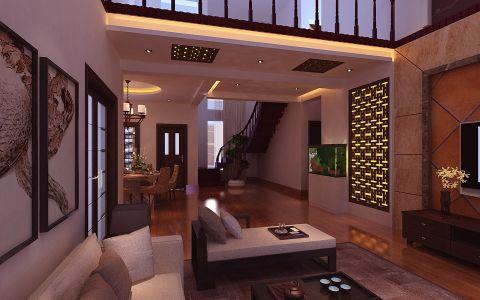 新中式风格别墅家居装修效果图