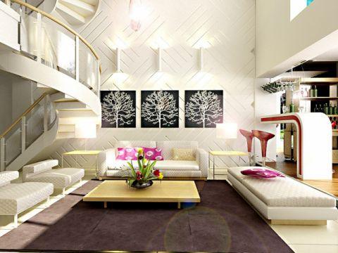 现代简约风格复式别墅装修设计
