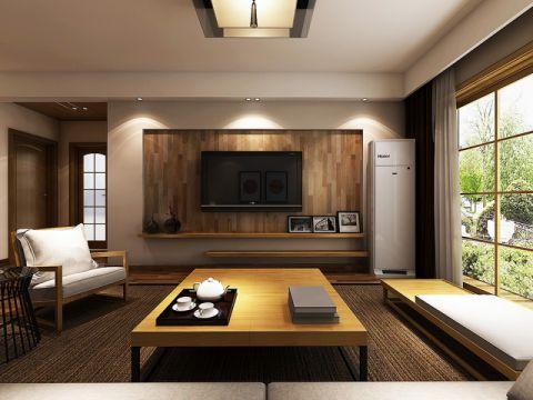 滨湖高速时代城100平方三居室现代日式风格案例