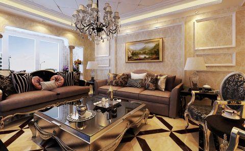 简欧风格舒适三居室设计案例