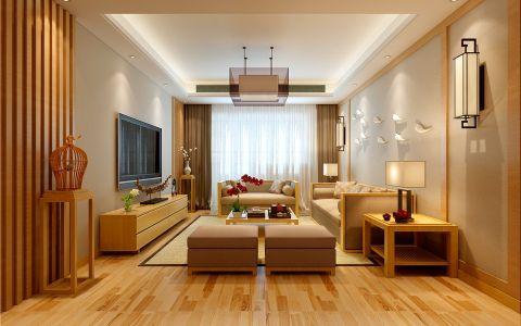 芳梦华苑三室两厅日式风格装修效果图
