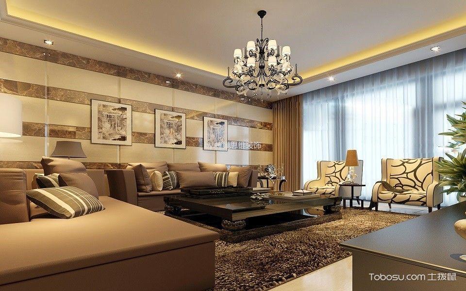 现代简约风格三居室装修实景