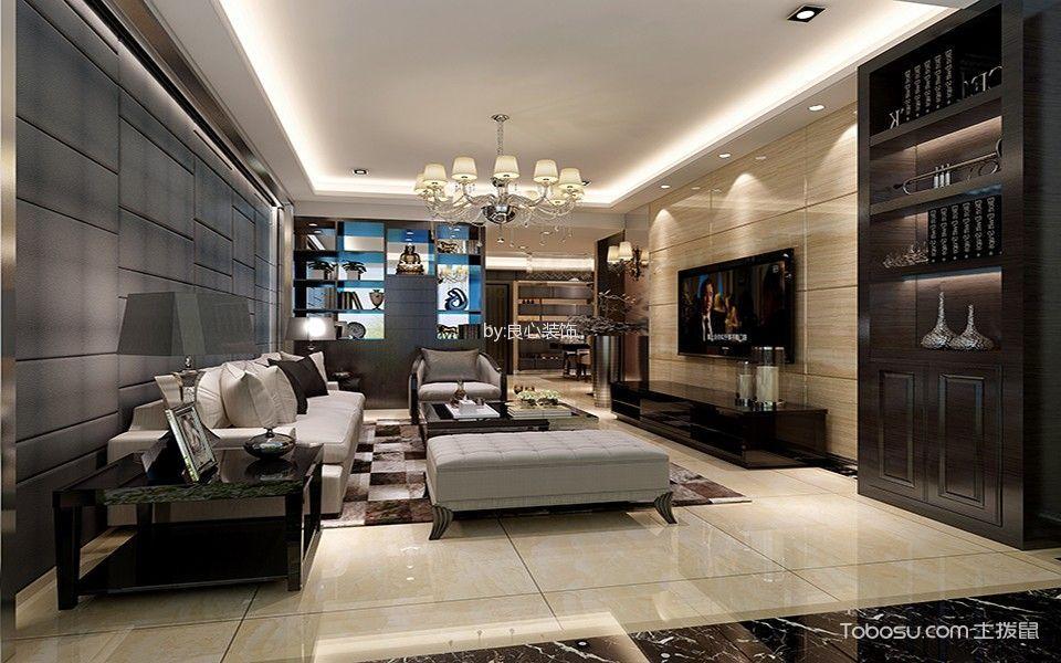 现代简约风格三居室户型装修案例图