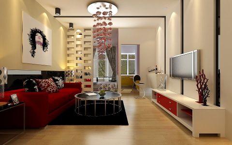 现代简约风一居室户型装修设计