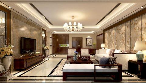 蓝泊湾简中式风格四居室装修设计效果图
