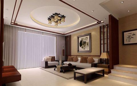 碧桂园别墅现代中式装修效果图