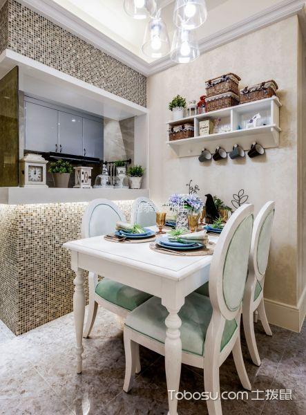 60平地中海风格一居室家庭装修图片