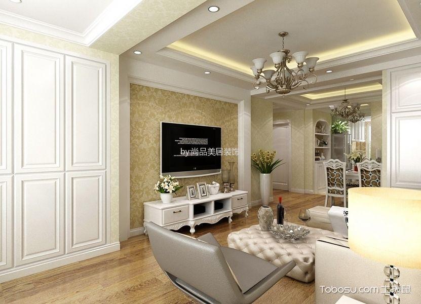 简欧风格三室一厅装修设计效果图