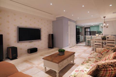 90平米田园乡村风格公寓装修设计