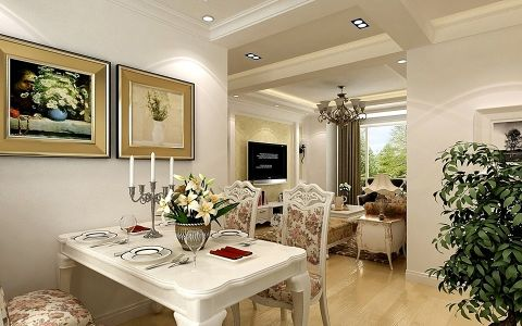 简欧风格两居室家庭装修设计图