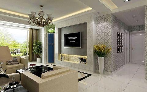 典雅主义简欧风格家庭三居室装修效果图