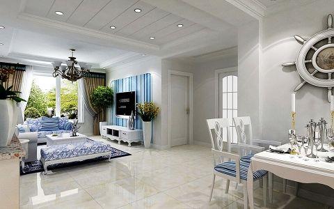 清新地中海风格二居室装修效果图欣赏
