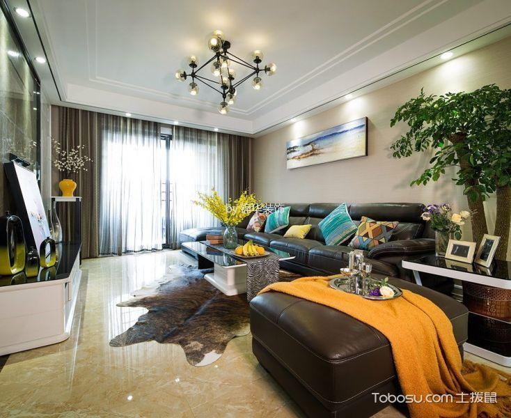 金龙公寓129平三室两厅现代风格实景图