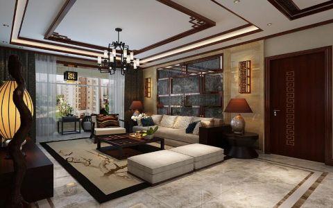 阳光汾河湾147平米三居室新中式风格装修效果图