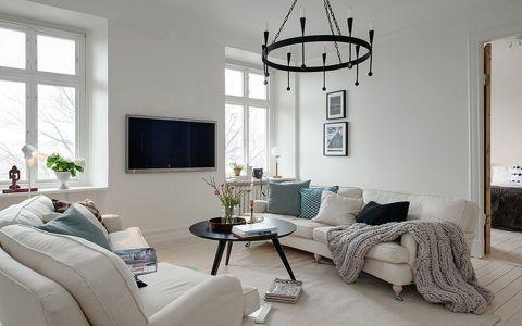 名城世家北欧风格白色家居装修图片