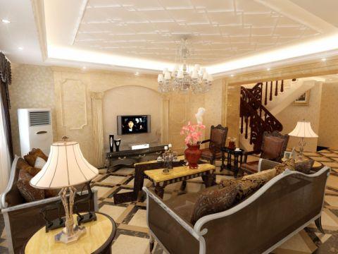 豪华复式简欧风格装修样板房