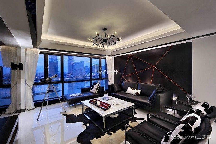 现代风格黑白色彩家居装修效果图
