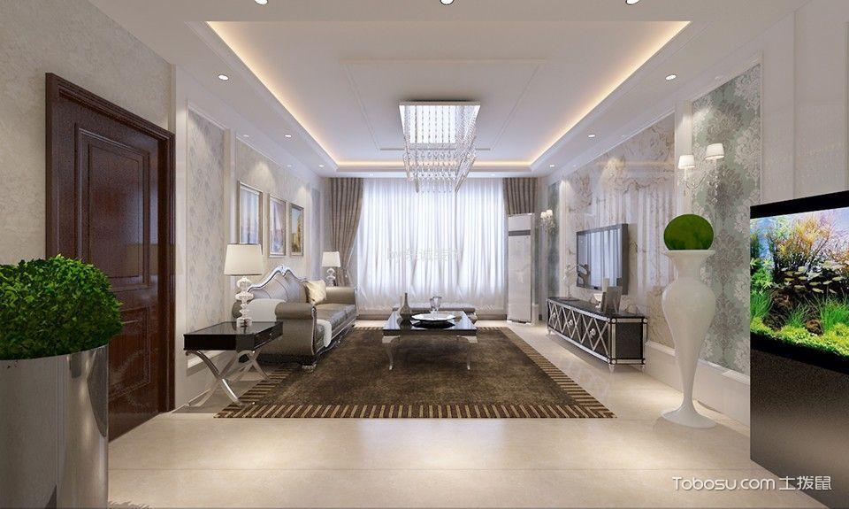 现代简约风格三居室样板房装修