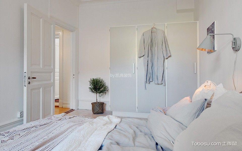 卧室灰色衣柜北欧风格装潢设计图片