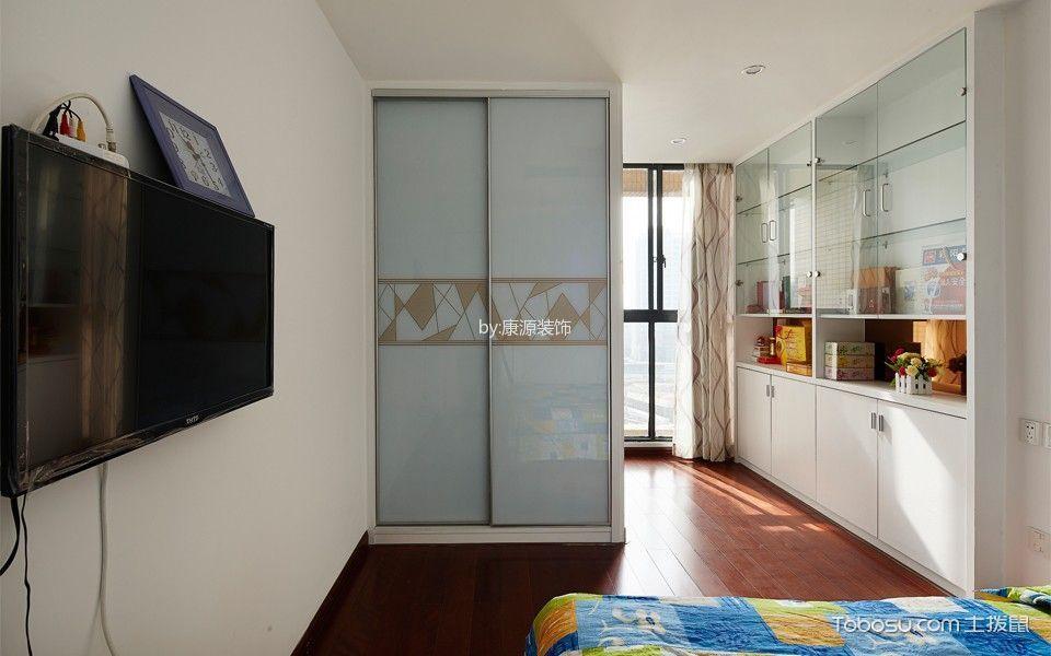 卧室红色地板砖现代简约风格装修效果图