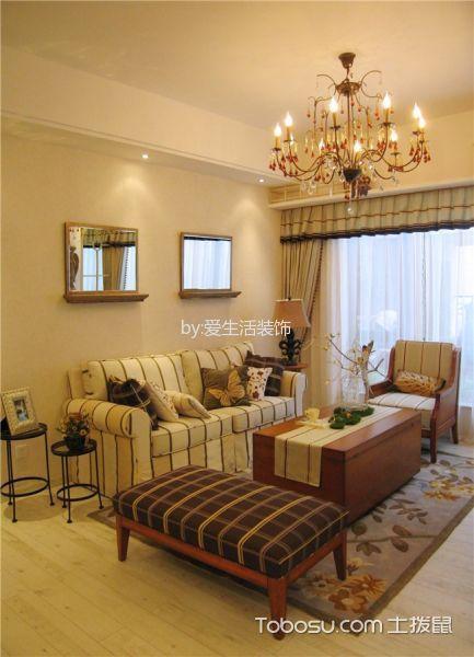 客厅咖啡色茶几混搭风格装饰图片