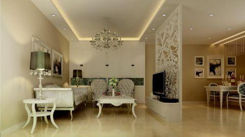 中南世纪花城简欧风格三居室装修设计