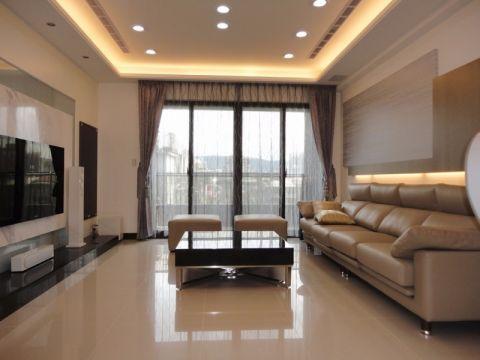 现代简约家庭两居室装修效果图案例