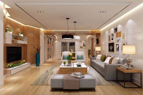2019简约90平米效果图 2019简约三居室装修设计图片