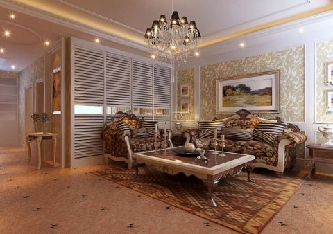 2019现代欧式120平米装修效果图片 2019现代欧式二居室装修设计