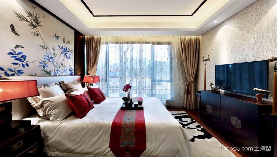 新中式风格三居室时尚韵味家装修案例图