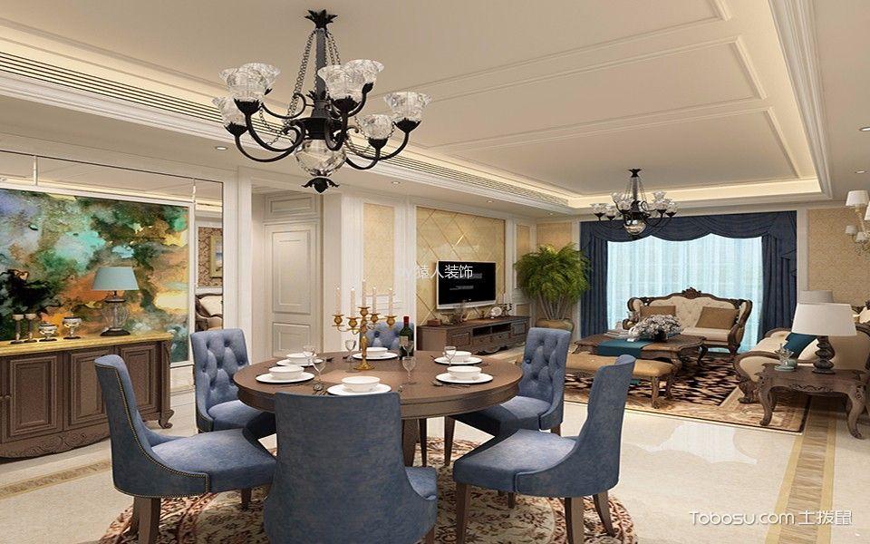 餐厅吊顶美式风格装饰效果图图片