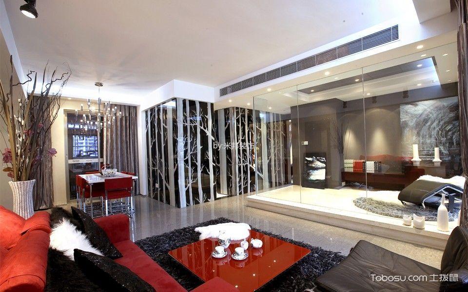 龙湖香醍漫步后现代主义家庭公寓装修图片