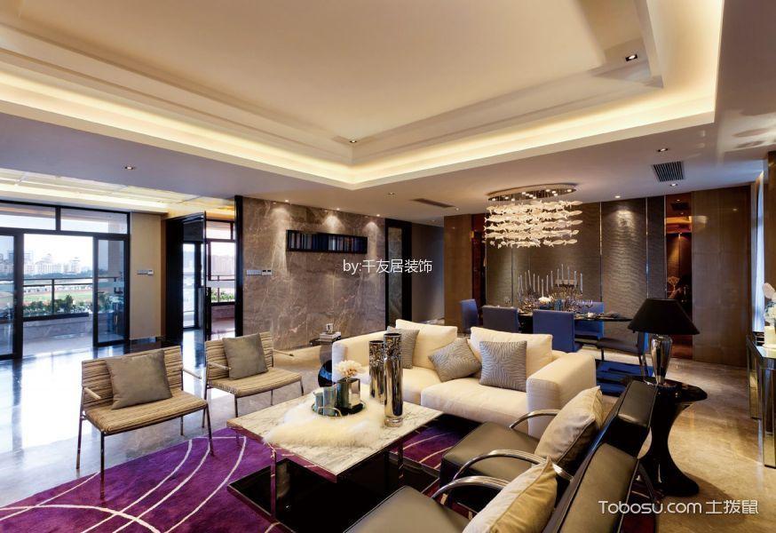 现代风格家庭两居室装修实景图