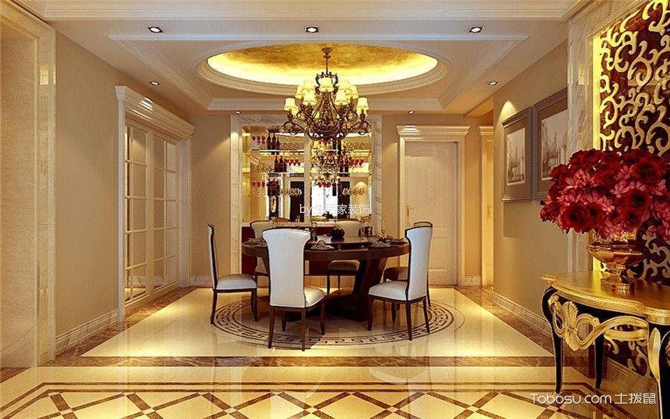 140平欧式二居室装修效果图