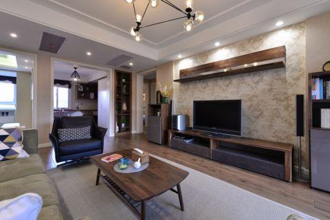 复地悦城117平米现代简约风格三居室装修图片